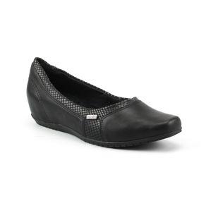 Sapatilha Anabela Bico Quadrado Comfort Flex Feminina Preto 35