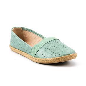 Sapato Alpargatas Perfuros Elástico Moleca Feminina Verde 37