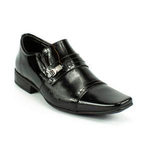 Sapato Social Jota Pe Verniz Masculino Preto 42