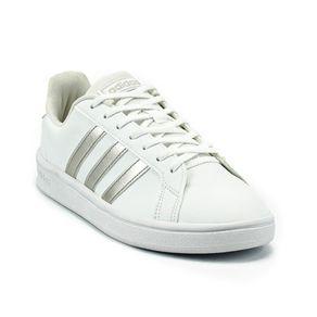 Tênis Adidas Grand Court Base Feminino Branco - Prata 37