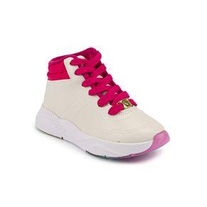 Tênis Molekinha Menina      Branco - Pink 34
