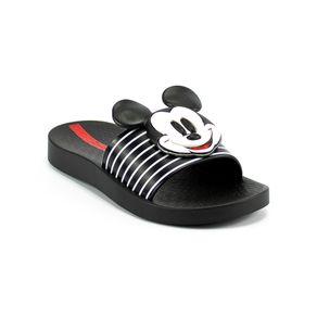 Chinelo Slide Grendene Disney Menina Preto-Branco 32