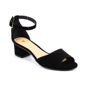 Sandália Salto Médio Via Uno Feminina Preto 33
