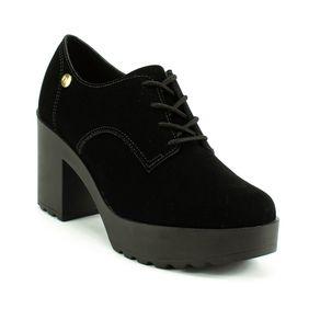 Sapato Casual Oxford Salto Alto Moleca Feminino Preto 35