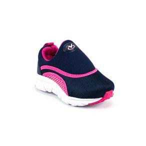 Tênis Via Vip Bebê Menina  Azul Marinho - Pink 21