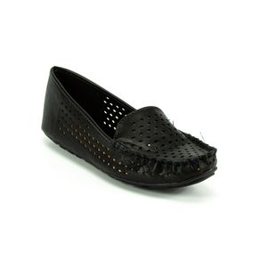 Sapato Mocassim Vazado Vizzano Feminino Preto 34
