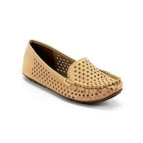 Sapato Mocassim Vazado Vizzano Feminino Bege 34