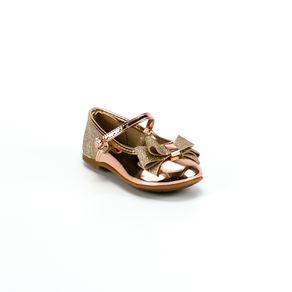 Sapatilha Molekinha Bebê Menina Dourado 20