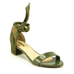 Sandália Salto Nó Moleca Feminina Verde 34