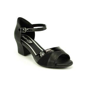 Sandália Salto Confort Flex Feminina Preto 35