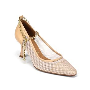 Sapato Scarpin Vizzano Feminino Bege 34