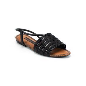 Sandália Metalizada Dakota Feminina Preto 35