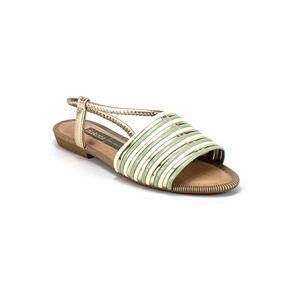Sandália Metalizada Dakota Feminina Verde 34