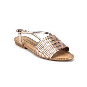 Sandália Metalizada Dakota Feminina Rosa 36