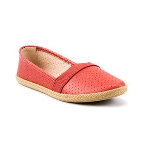 Sapato Alpargatas Perfuros Elástico Moleca Feminina Rose 35